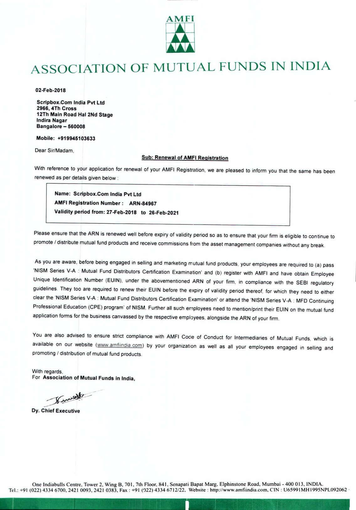 Registered Company Certification | Scripbox