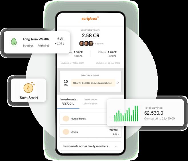 Scripbox - Mobile app dashboard
